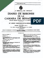 Sesión de la Cámara de Senadores de Uruguay - 26 Junio 1973