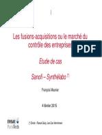 Etude de Cas Sanofi Synthelabo