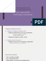 SEMAINE DE COMPETENCES BACHELOR MARKETING