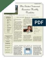 OSGA Newsletter First Edition