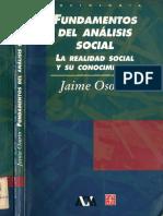 Osorio Jaime - Fundamentos Del Análisis Social. La Realidad Social y Su Conocimiento