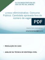 Aula EMERJ - Direito Administrativo. Preteric¿a¿o Nomeac¿a¿o