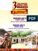 13th Annual International Charles Town Maroon Conference Programme - June 23 and 24, 2021