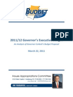 House Democrats Analysis of FY 2011-12 Corbett Budget