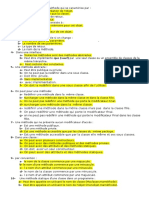 QCM module POO pour la revision