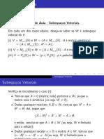 Notas de aula - Subespaços vetoriais (exemplo)