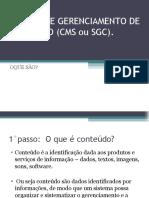 SISTEMA DE GERENCIAMENTO DE CONTEÚDO