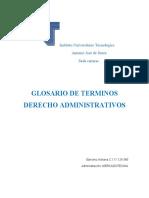 Glosario de Terminos Derecho Administrativos