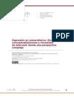 Depresión en estudiantes universitarios, revisión de conceptualizaciones y necesidad de intervención.