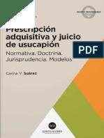 Prescripcion adquisitiva y Juicio de usucapion. 2019. Saurez_1