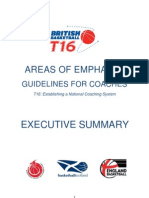 British Basketball T16 Coaching Curriculum-Areas of Emphasis Executive Summary