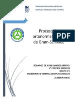 Proceso de ortonormalización de Gram-Schmidt