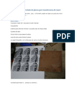 Tutorial PCB transferencia de toner