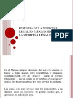 Historia de la medicina legal en México Historia