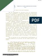 Tribunal Calificador de Elecciones, Sentencia de calificación y escrutinio de la elección de Convencionales Constituyentes, Rol Nº 1147-2021, quince de junio de dos mil veintiuno