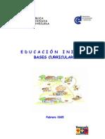 bases curriculares de la educación inicial