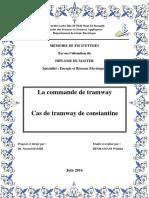 W.benhassina la commande de tramway cas de tramway de constantine