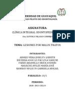 LESIONES POR MALOS TRATOS - GRUPO 1