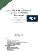 Vibrational Spectroscopy Basics