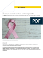 Cancer estadisticas segun oms