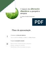 O Impacto Das Alterações Climáticas Na Perspetiva Europeia