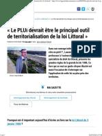 _Le PLUi Devrait Être Le Principal Outil de Territorialisation de La Loi Littoral