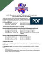 2011 California League Playoff Schedule
