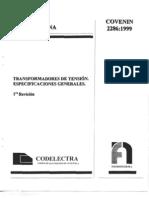 Covenin Transform Adores de Tension2286-99