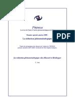 reduction  phénoménologique husserl heidegger
