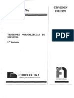 COVENIN TENSIONES NOMINALES 159-97