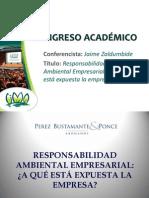 Responsabilidad Ambiental empresarial - JAIME ZALDUMBIDE