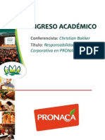 Responsabilidad Corporativa en PRONACA - CHRISTIAN BAKKER