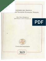 Inventario Archivo Municipal Salvador Alvarado, Sinaloa