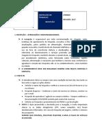 INSTRUÇÃO DE TRABALHO  RECEPÇÃO