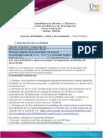 Guia de actividades y Rúbrica de evaluación - Unidad 3 - Fase 5- Evaluar