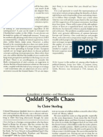 Qaddafi Spells Chaos, March 7, 1981