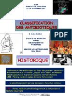 CLASSIFICATION DES ANTIBIOTIQUES 03