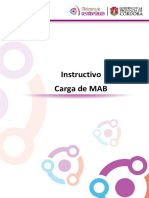 Instructivo de Carga de MAB