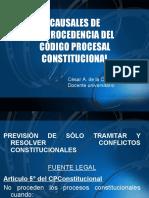 Causales Improcedencia del CPConstitucional