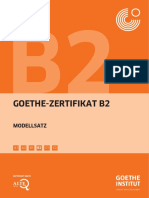 Deutsch Uebung Test b2 1 Goethe Zertifikat Pruefung