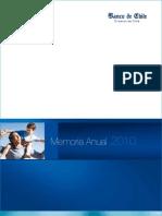 Memoria Anual 2010 - Banco de Chile M09 1600