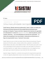 Uma masculinidade necropolítica – Entrevista Sayak Valencia
