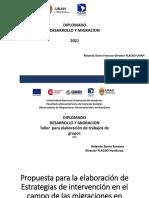 Taller  - Diplomado Migración y Desarrollo - RSIERRA