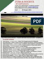 Cultura & Società in Capitanata N. 39 Del 29-06-2021