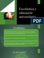 Escolástica y educación universitaria