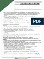 Série d'exercices - Math - LE SECOND DEGRE - 2ème Sciences (2017-2018) Mr Y.BOULILA