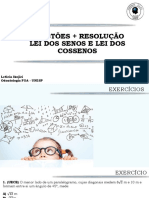 QUESTÕES + RESOLUÇÃO LEI DOS SENOS E LEI DOS COSSENOS