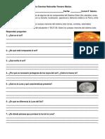Guía Ciencias Naturales Tercero Básico cometas, asteroides.