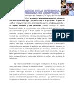 Importancia de la Evidencia en el proceso de auditoria