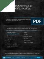 Análise de Indicadores de   Fundos Imobiliários(Fiis)